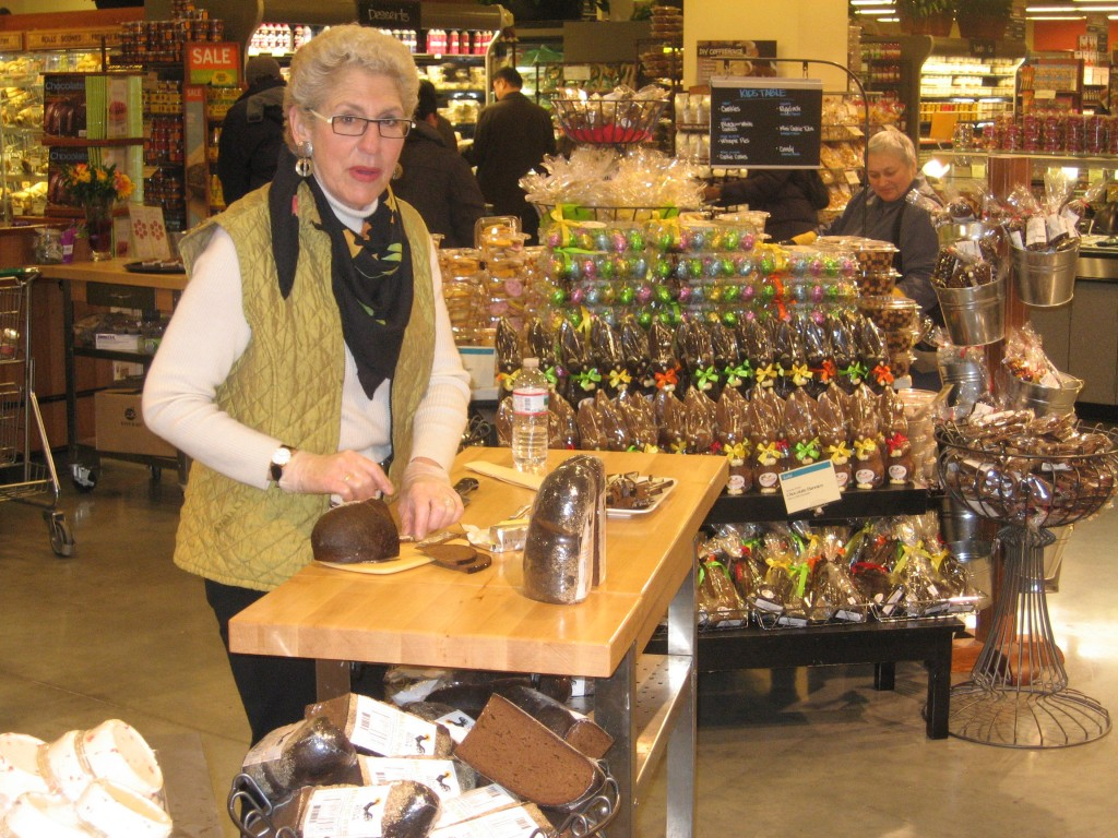 Michaele introduces Manhattan shoppers to the wonders of Latvian rye bread.